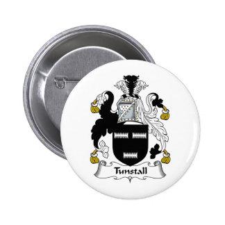 Escudo de la familia de Tunstall Pin Redondo 5 Cm