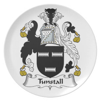 Escudo de la familia de Tunstall Platos
