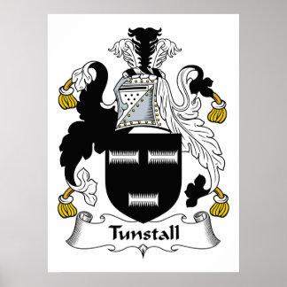 Escudo de la familia de Tunstall Póster