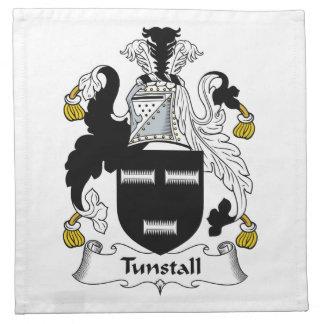 Escudo de la familia de Tunstall Servilleta De Papel