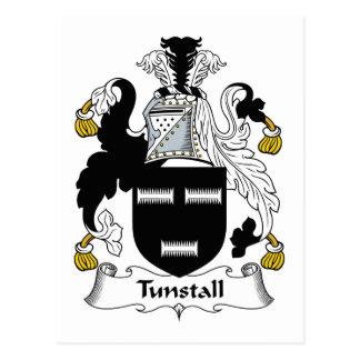 Escudo de la familia de Tunstall Tarjeta Postal