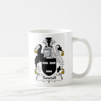 Escudo de la familia de Tunstall Taza Básica Blanca