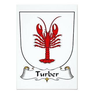 """Escudo de la familia de Turber Invitación 5"""" X 7"""""""