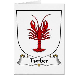 Escudo de la familia de Turber Tarjeta De Felicitación