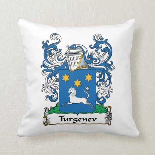 Escudo de la familia de Turgenev Cojín