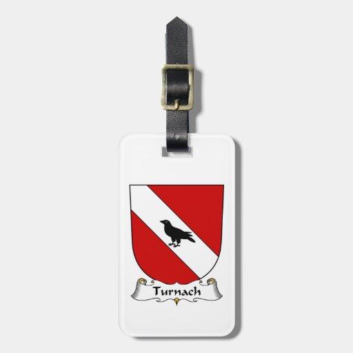Escudo de la familia de Turnach Etiquetas Maleta