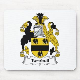 Escudo de la familia de Turnbull Alfombrillas De Ratón