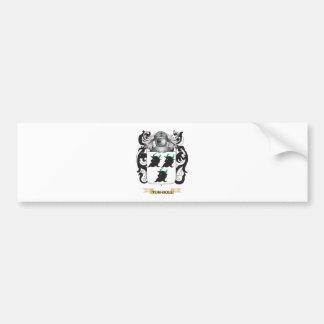 Escudo de la familia de Turnbull (escudo de armas) Etiqueta De Parachoque