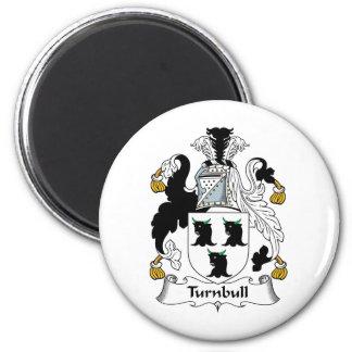 Escudo de la familia de Turnbull Imán Redondo 5 Cm