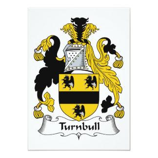 Escudo de la familia de Turnbull Invitación 12,7 X 17,8 Cm