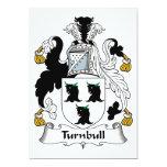 Escudo de la familia de Turnbull Invitación Personalizada