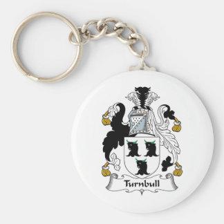 Escudo de la familia de Turnbull Llavero Redondo Tipo Pin