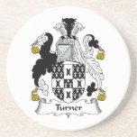 Escudo de la familia de Turner Posavasos Cerveza