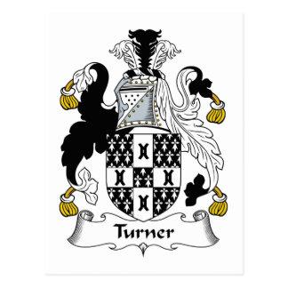 Escudo de la familia de Turner Tarjeta Postal