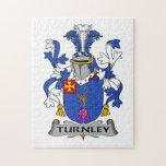 Escudo de la familia de Turnley Rompecabezas Con Fotos