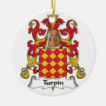Escudo de la familia de Turpin Ornamentos De Navidad