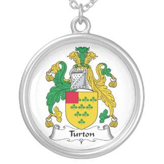Escudo de la familia de Turton Colgante Redondo