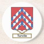 Escudo de la familia de Turvile Posavasos Manualidades