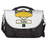 Escudo de la familia de Tuttle Bolsas Para Ordenador