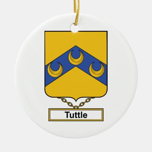 Escudo de la familia de Tuttle Ornaments Para Arbol De Navidad