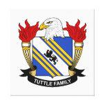 Escudo de la familia de Tuttle Lona Envuelta Para Galerías