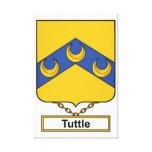 Escudo de la familia de Tuttle Impresiones De Lienzo