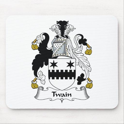Escudo de la familia de Twain Tapetes De Ratones