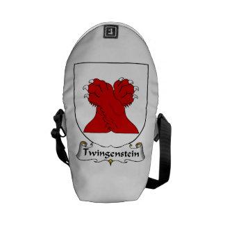 Escudo de la familia de Twingenstein Bolsa De Mensajería