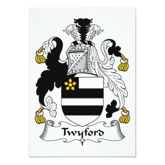 Escudo de la familia de Twyford Invitación 12,7 X 17,8 Cm