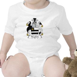 Escudo de la familia de Twyford Traje De Bebé