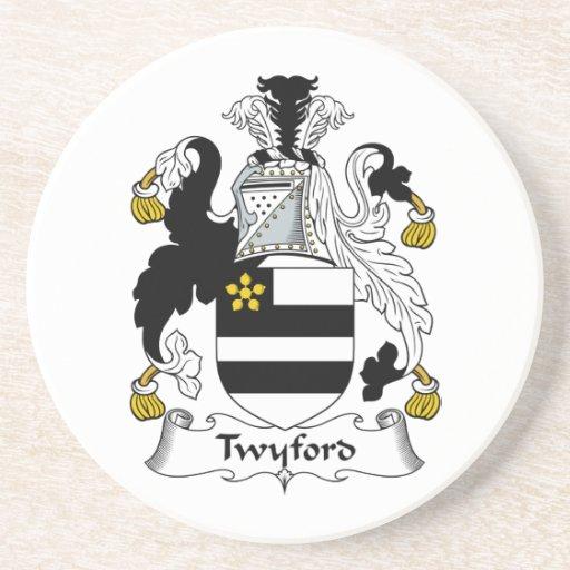 Escudo de la familia de Twyford Posavasos Cerveza