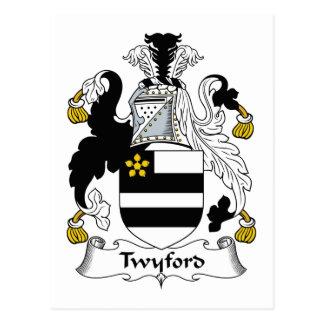Escudo de la familia de Twyford Postal