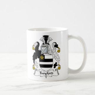 Escudo de la familia de Twyford Tazas De Café