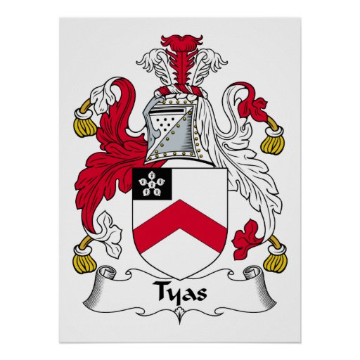 Escudo de la familia de Tyas Póster