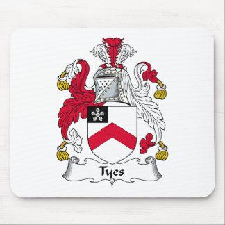 Escudo de la familia de Tyes Alfombrillas De Ratón