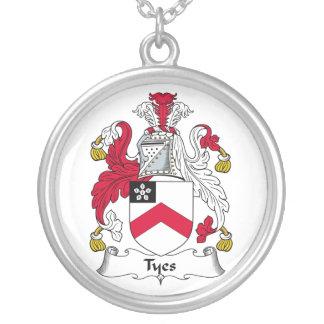 Escudo de la familia de Tyes Colgante Redondo