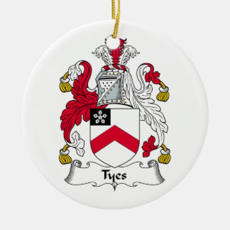 Escudo de la familia de Tyes Adorno Redondo De Cerámica