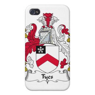 Escudo de la familia de Tyes iPhone 4 Carcasas