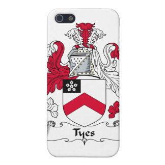 Escudo de la familia de Tyes iPhone 5 Carcasa