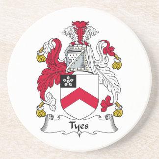 Escudo de la familia de Tyes Posavaso Para Bebida