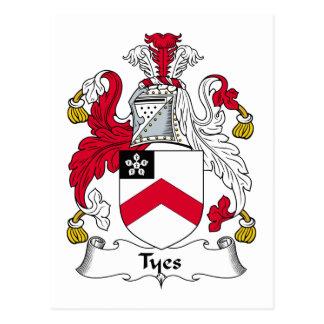Escudo de la familia de Tyes Postal