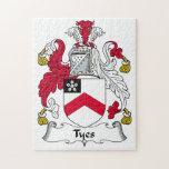 Escudo de la familia de Tyes Rompecabeza Con Fotos