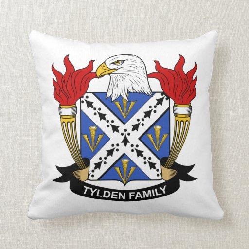 Escudo de la familia de Tylden Cojines