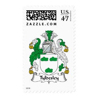 Escudo de la familia de Tyldesley Sello Postal