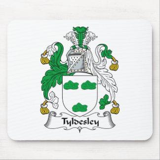 Escudo de la familia de Tyldesley Tapete De Ratones