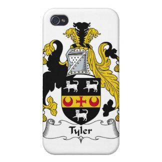 Escudo de la familia de Tyler iPhone 4 Funda