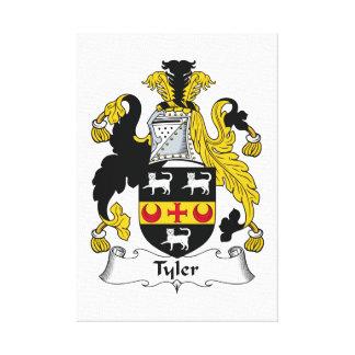 Escudo de la familia de Tyler Lienzo Envuelto Para Galerias