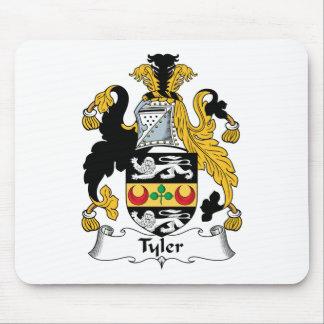 Escudo de la familia de Tyler Mouse Pads