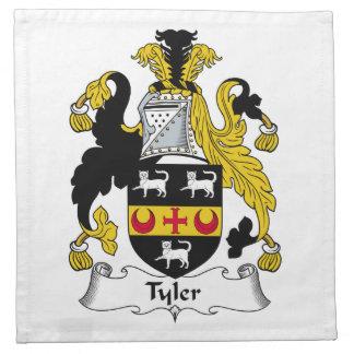 Escudo de la familia de Tyler Servilletas