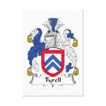 Escudo de la familia de Tyrell Impresión De Lienzo